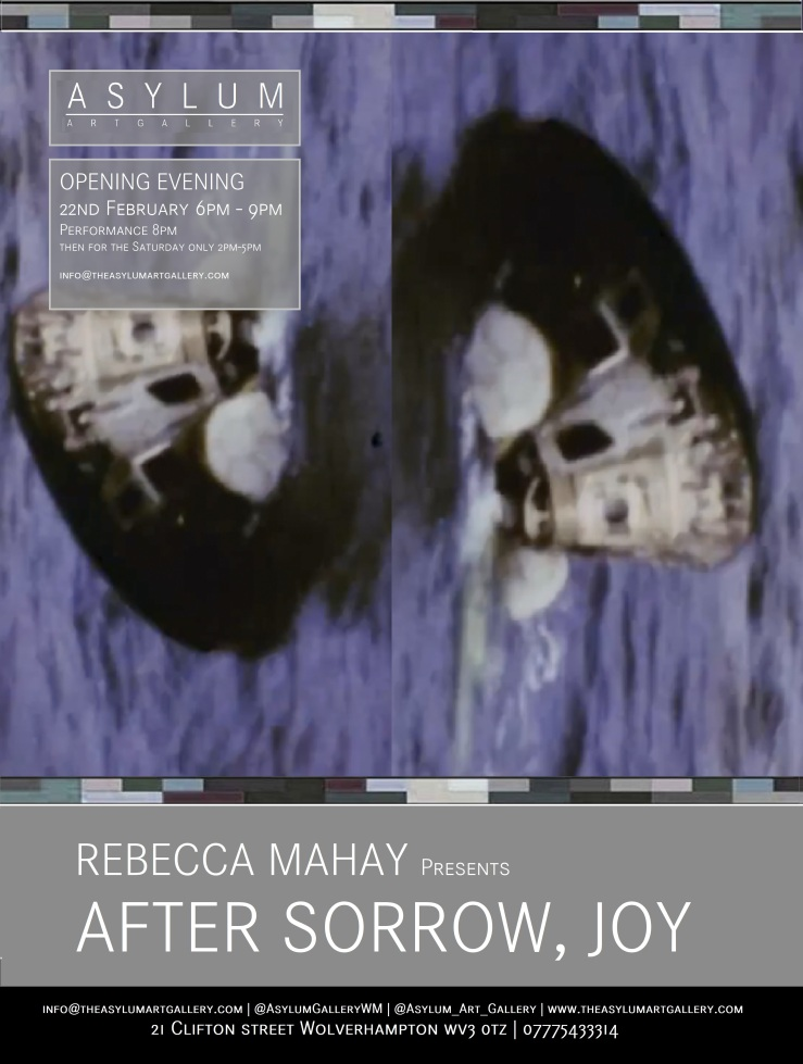 Rebecca Mahay presents 'After Sorrow, Joy'